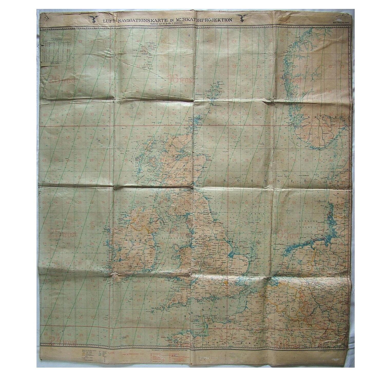 Luftwaffe Navigationskarte - British Isles