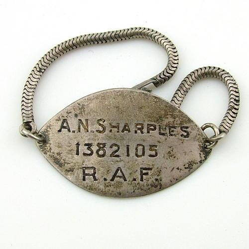 RAF silver identity bracelet