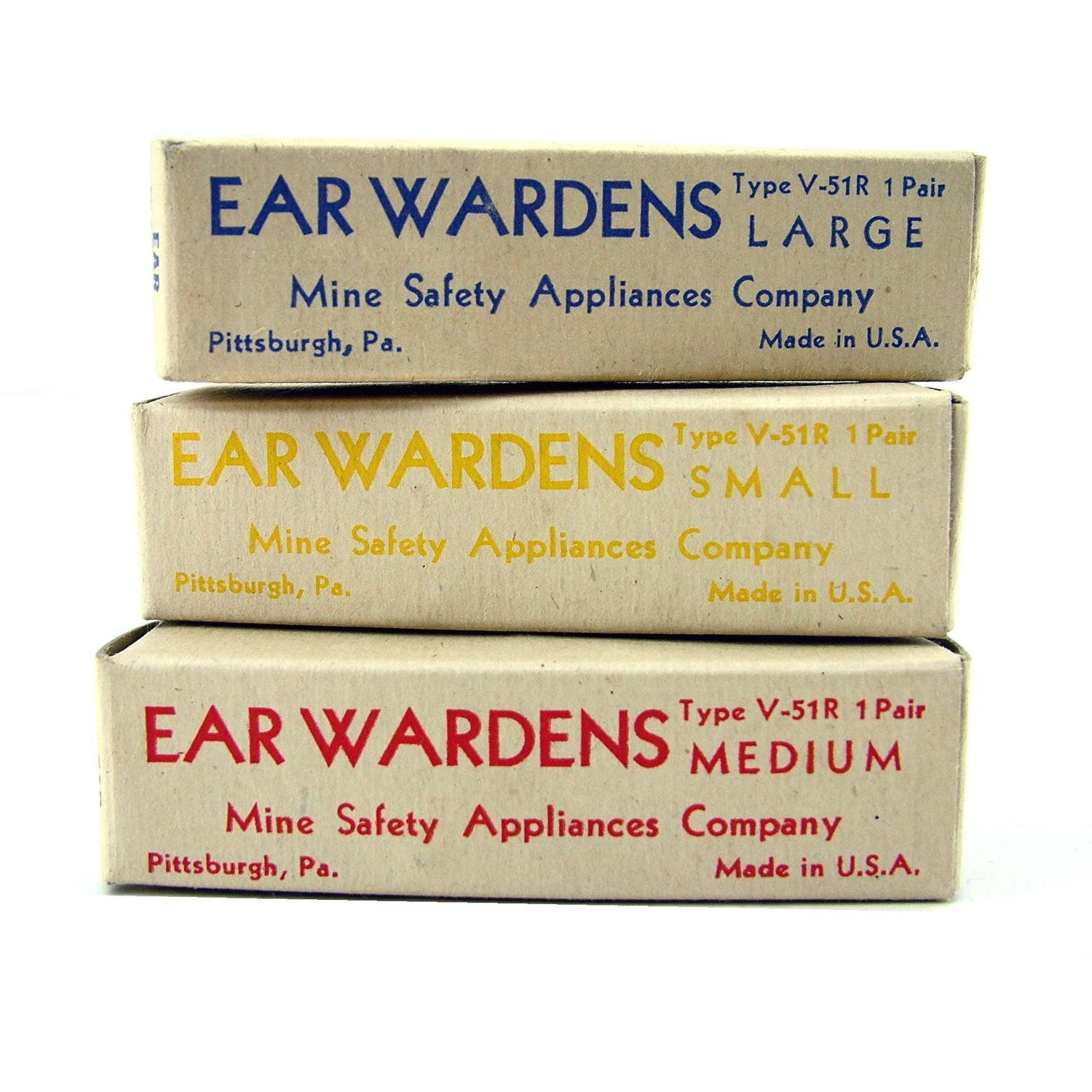 USAAF 'used' earplugs, boxed