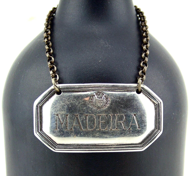 RAF mess decanter Madeira label