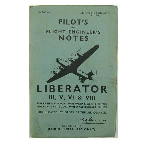 RAF pilot's notes, Liberator III,V,VI & VII