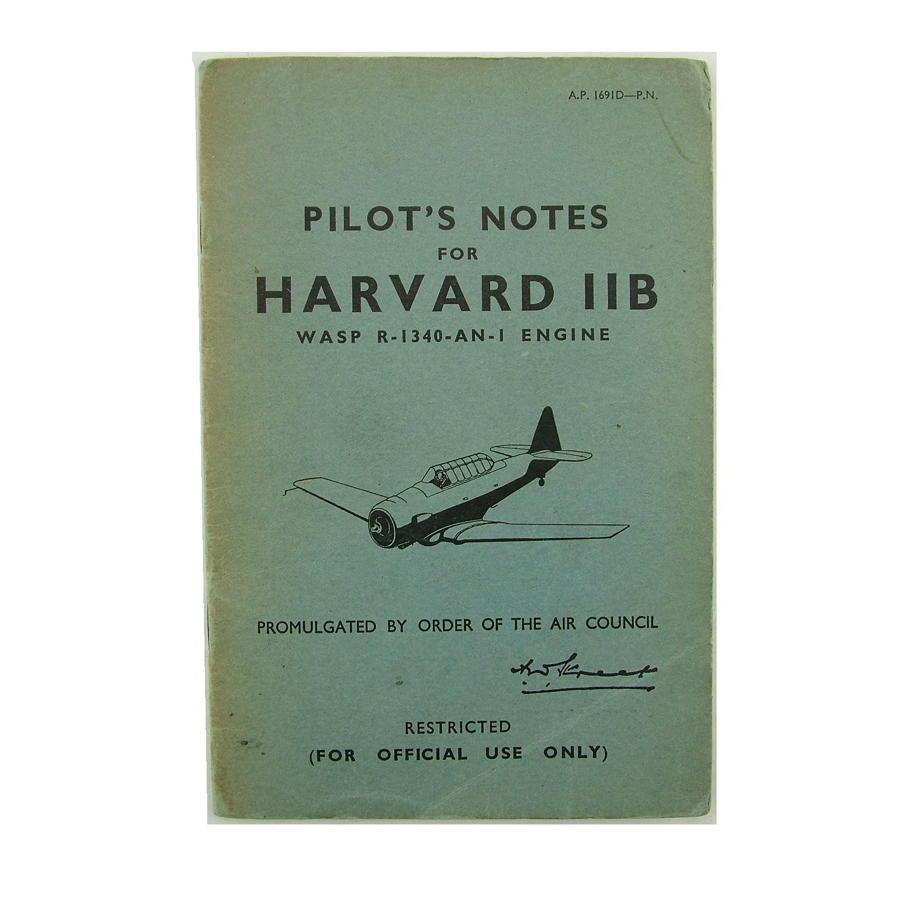 RAF pilot's notes, Harvard IIB