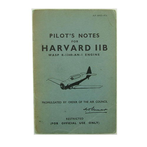 RAF pilot's notes, Harvard IIB
