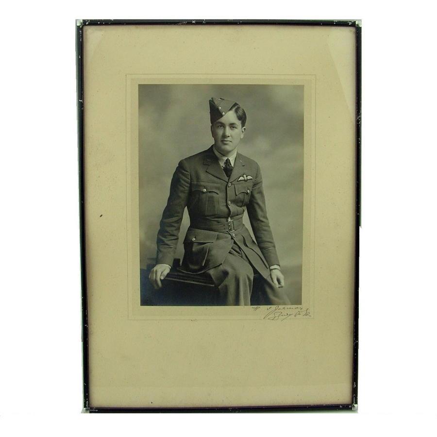 Photo, RAF pilot, framed
