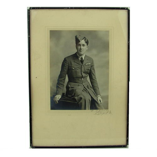 Photo, RAF pilot, framed