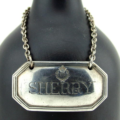 RAF mess decanter Sherry label