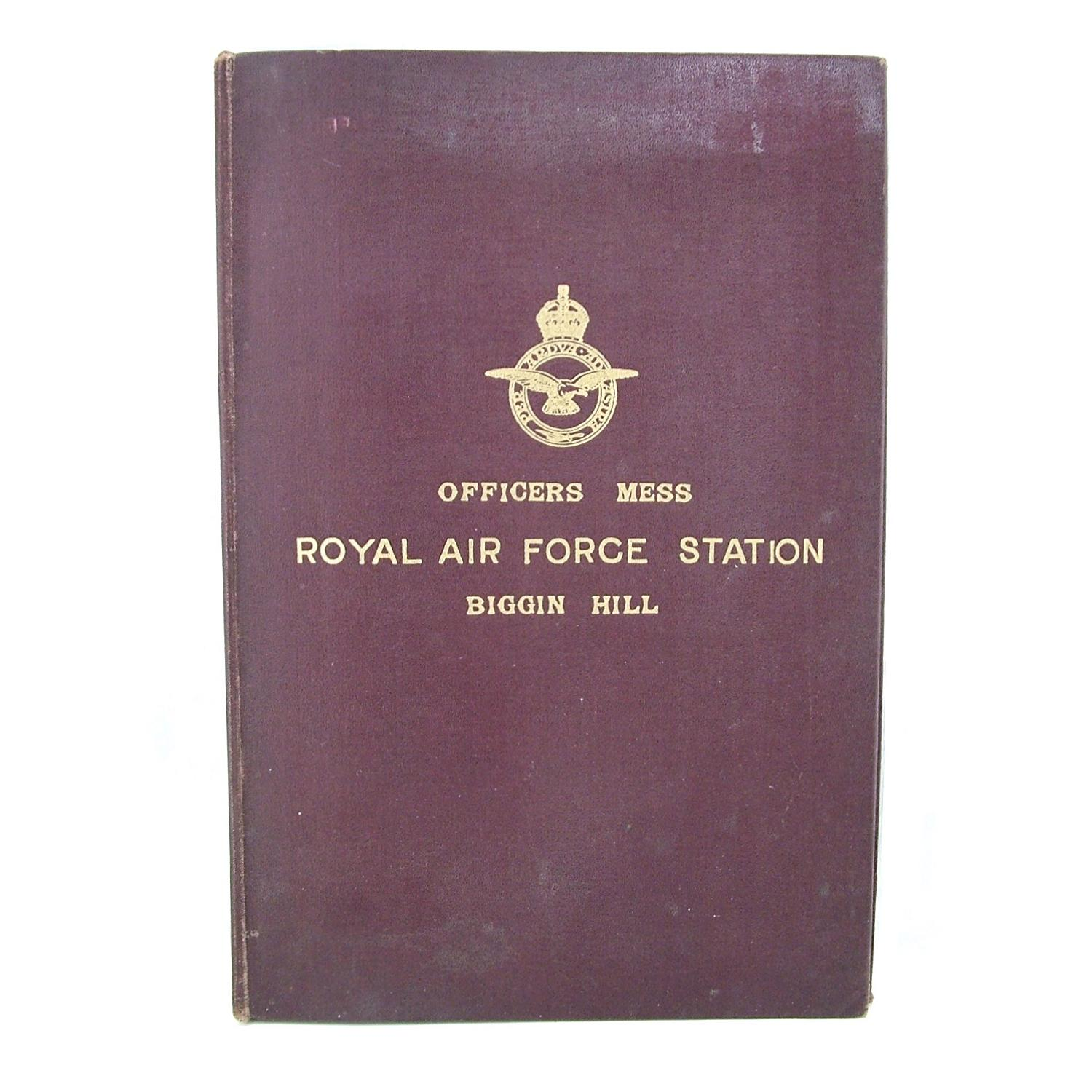 RAF Biggin Hill document binder