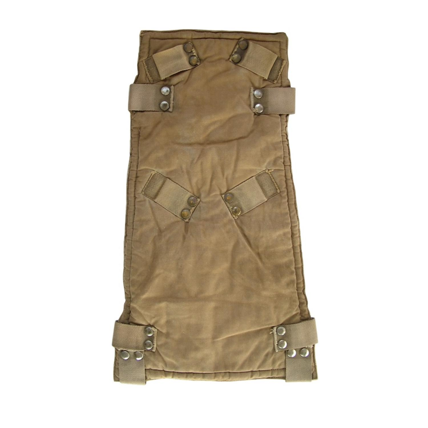 RAF parachute assembly backpad