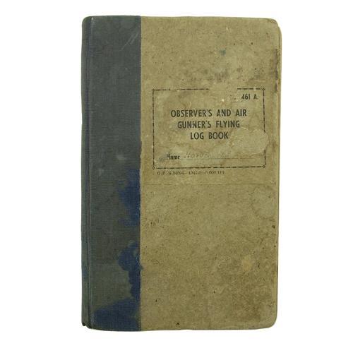 RAF air gunner's log book
