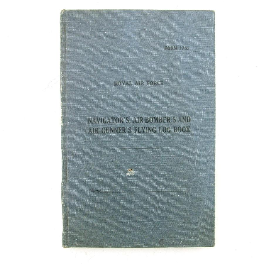 RAF flying log book