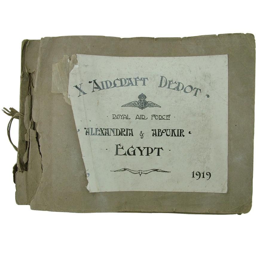 RAF aircraft depot photo album, 1919