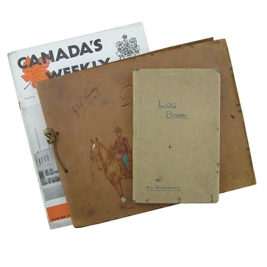 RAF Navigator's log book & album