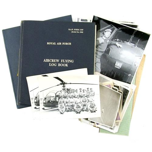 RAF / AAC helicopter observer log books