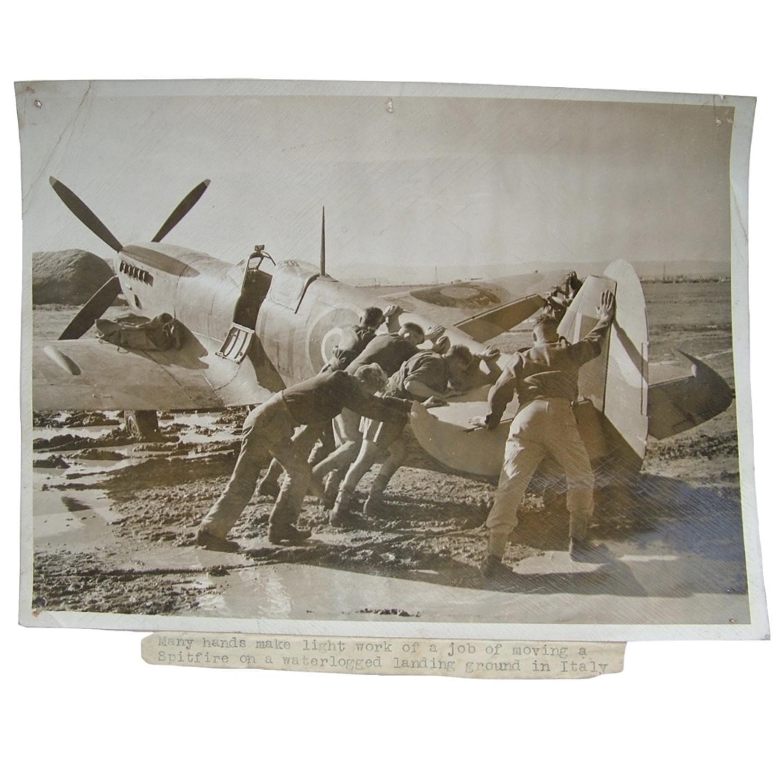 RAF Press photo - Spitfire, 1943