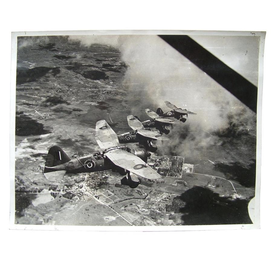 RAF press photo - Lysanders over Madagascar