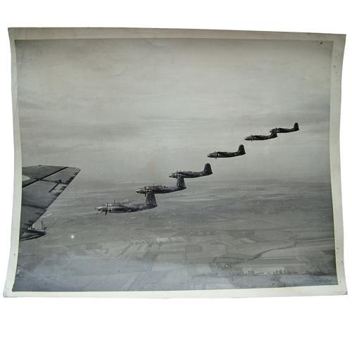 RAF Press photo - Boston bombers on a raid