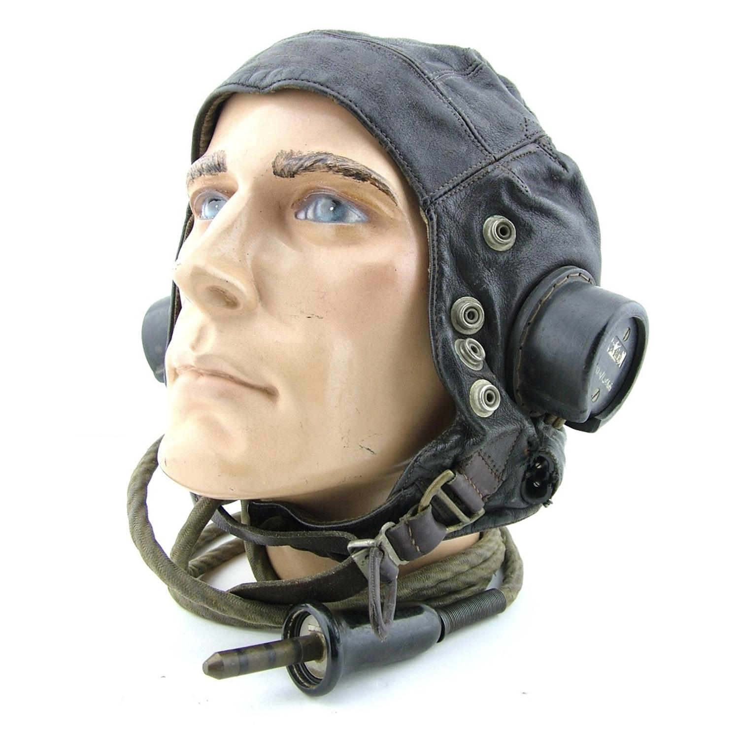 RAF C-type flying helmet, modified early patt
