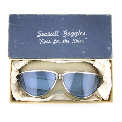 USN 'used' Seesall flying goggles, boxed