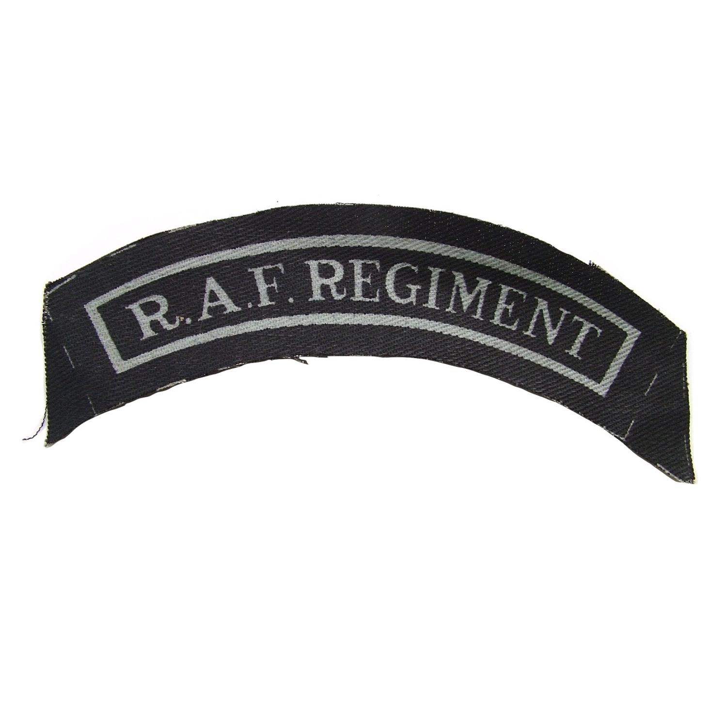 RAF Regiment shoulder title
