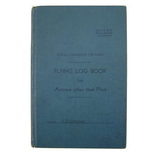 RAF flying log book