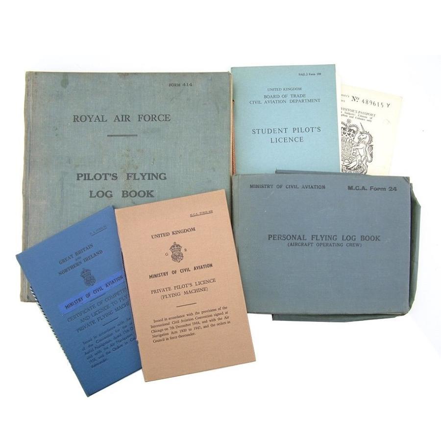 RAF flying log books