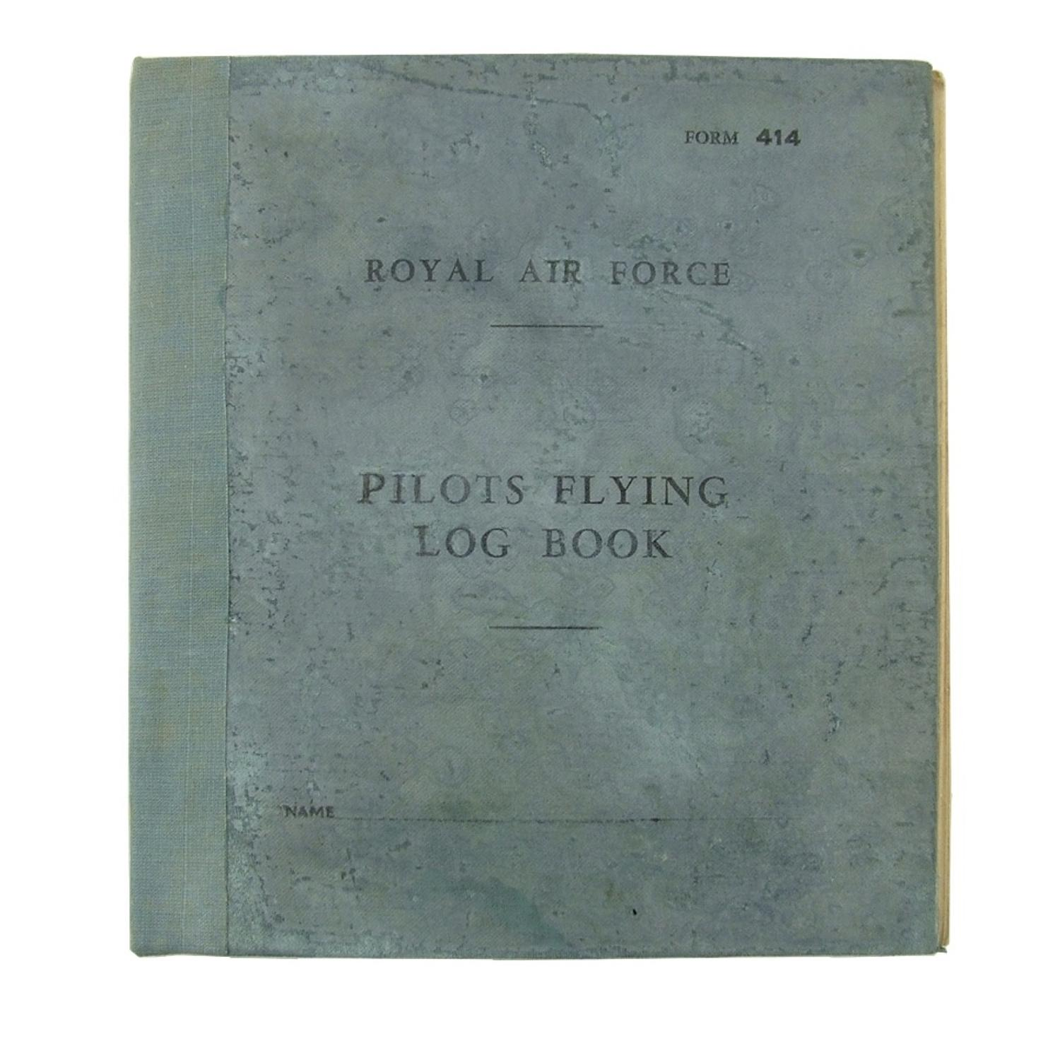 RAF pilot's flying log book