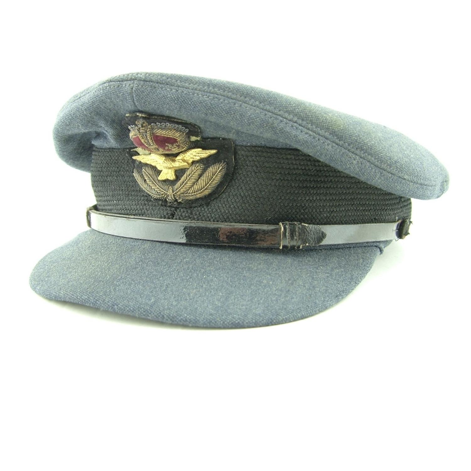 RAF officer rank service dress cap