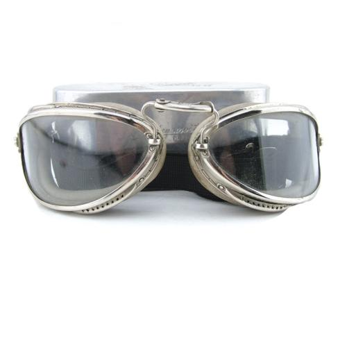 Luxor No.6 flying goggles, cased