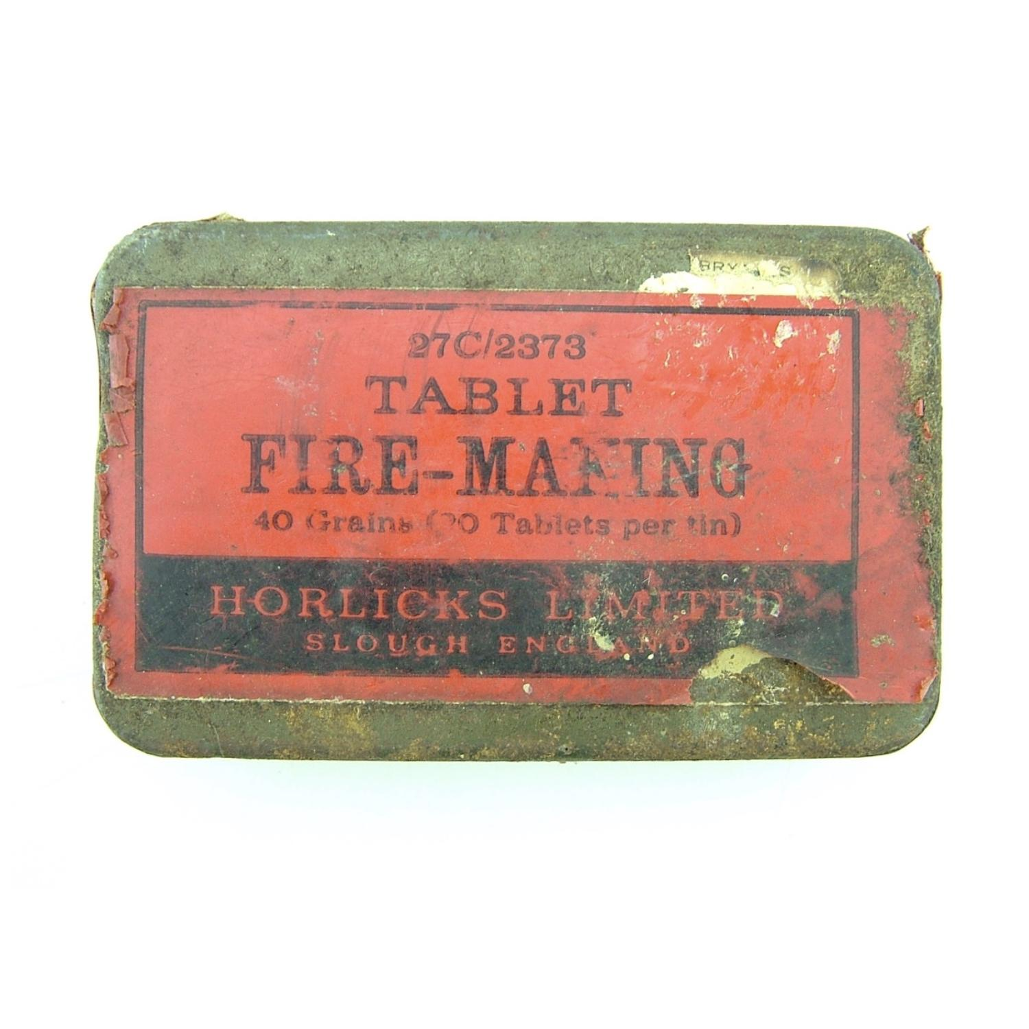 RAF survival  kit fire making tablets