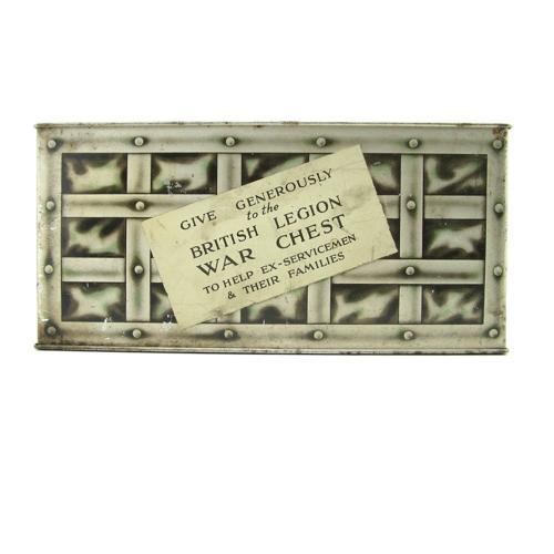 WW2 British Legion war chest collection box