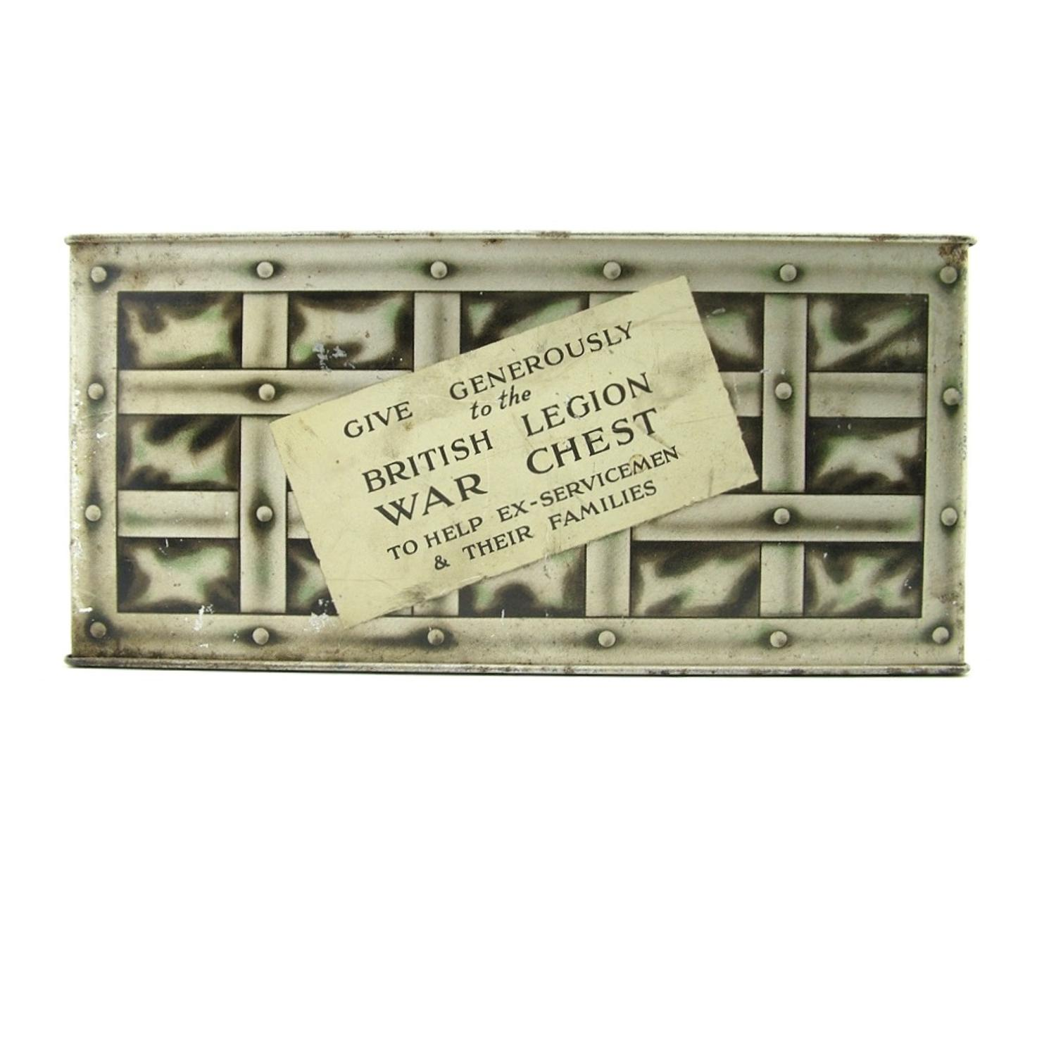 WW2 British Legion war chest collection box
