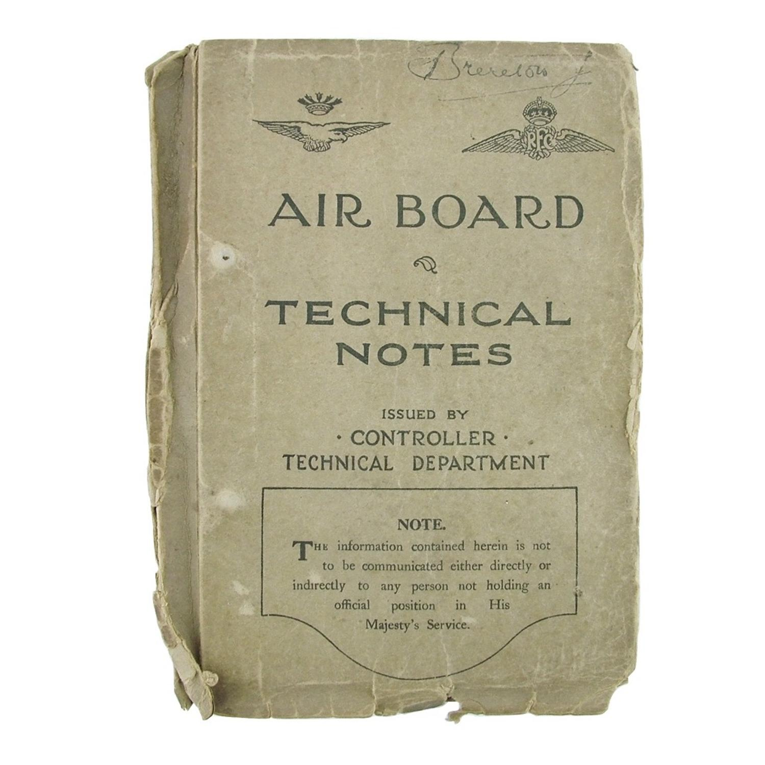 RFC / RNAS Air board technical notes