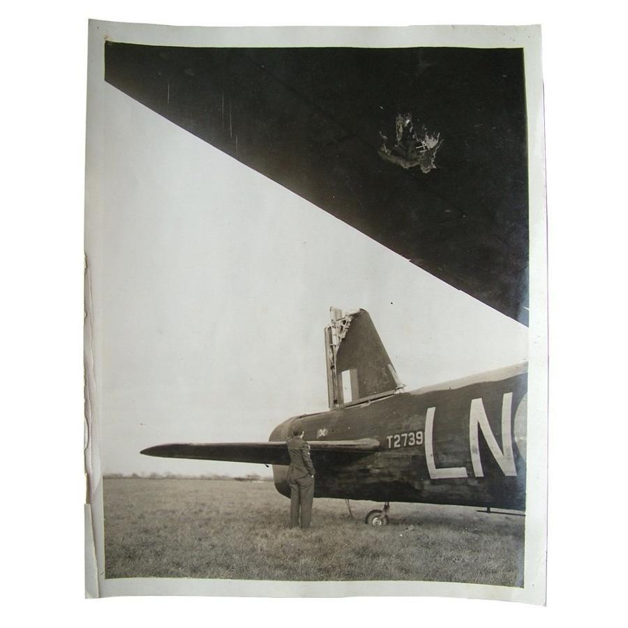 Press photo - damaged Wellington