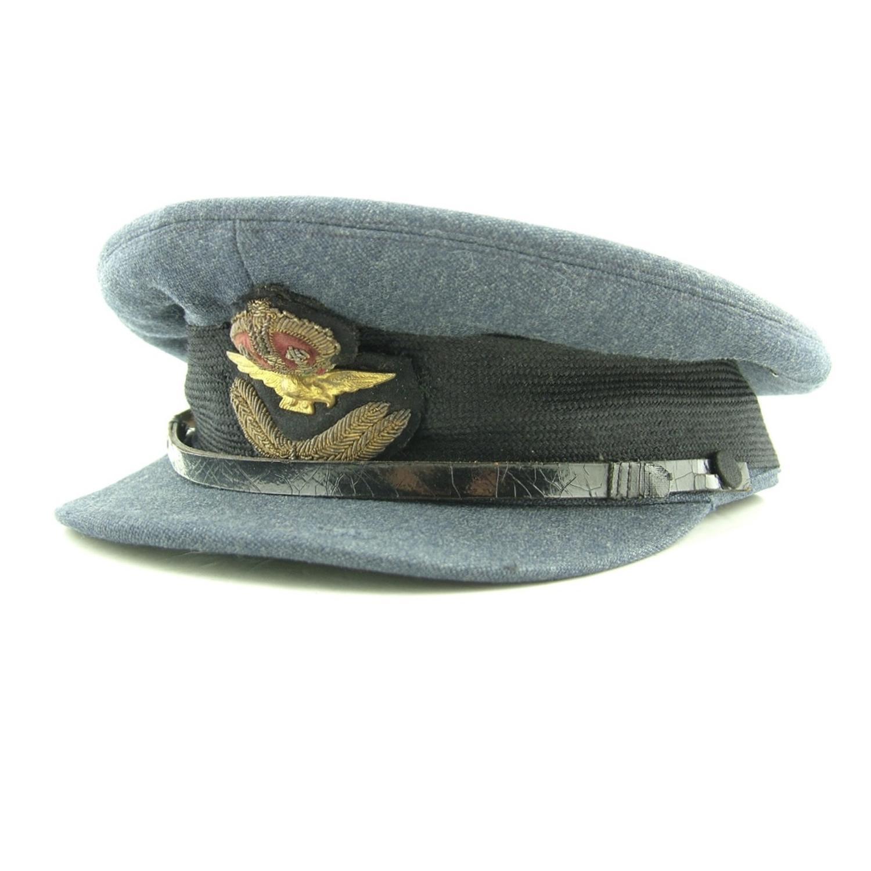 RAF officer rank service dress cap