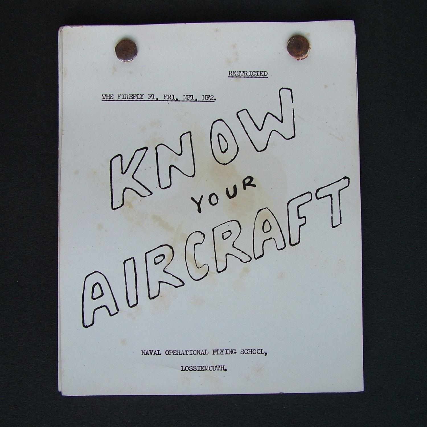 FAA Know Your Aircraft - Firefly pilots notes