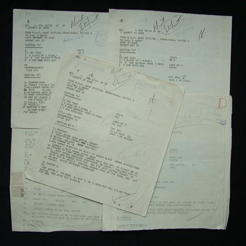 RAF Bomber Command raid reports