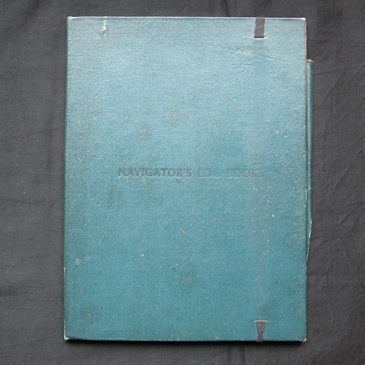 RAF Navigator's log book folder
