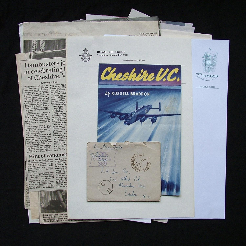 Leonard Cheshire VC, WW2 handwritten letter