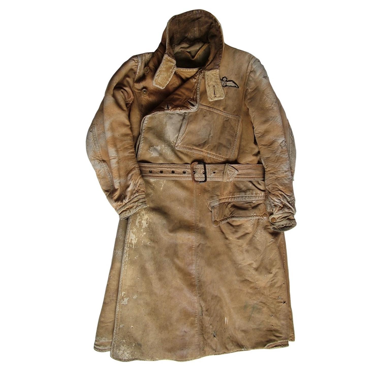 WW1 RFC leather flying coat