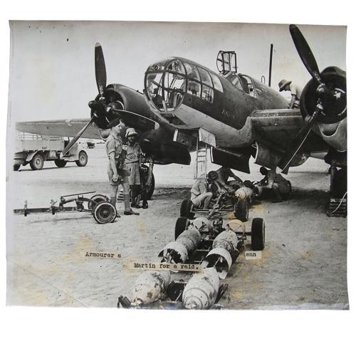 British official photo - Glenn Martin bomber