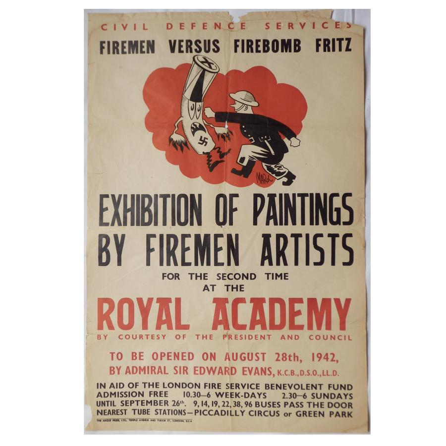 Civil Defence Royal Academy poster, 1942