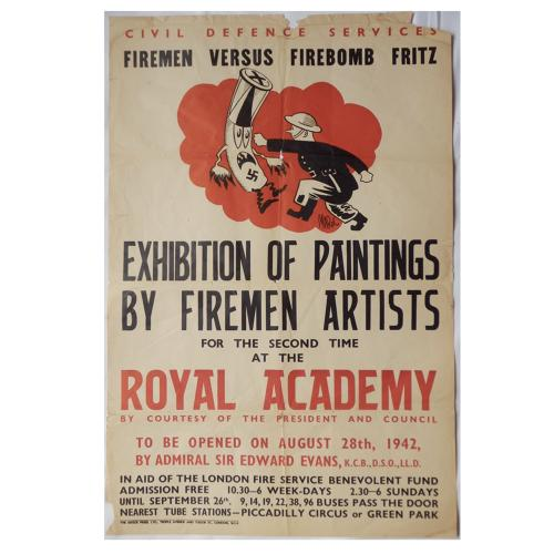 Civil Defence Royal Academy poster, 1942