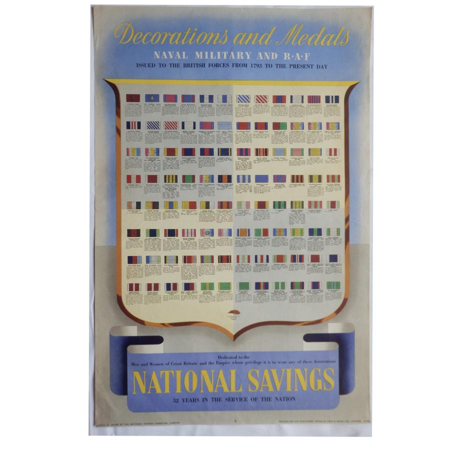 National Savings Poster - Decorations & Medals