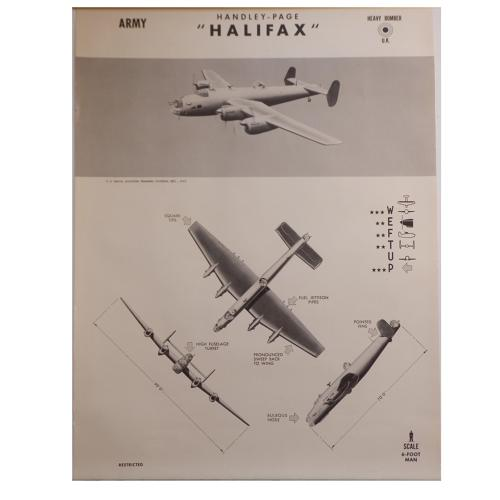 American recognition poster - RAF Halifax