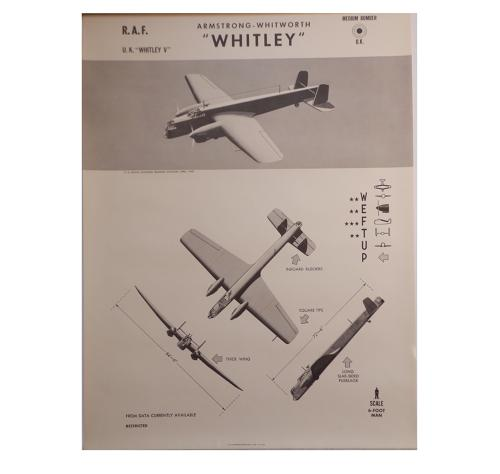 American recognition poster - RAF Whitley