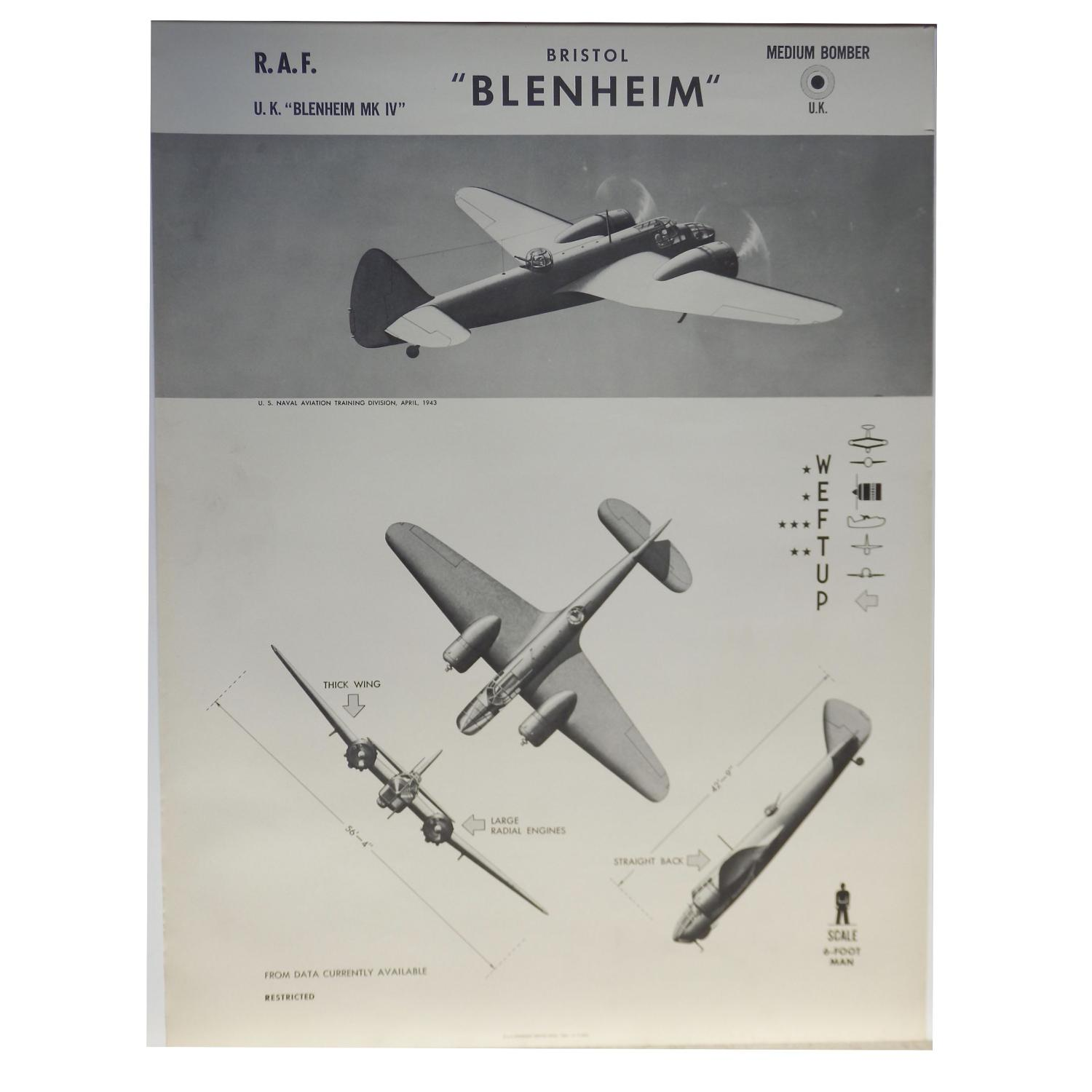 American recognition poster - RAF Blenheim