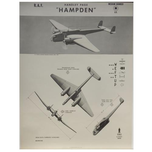 American recognition poster - RAF Hampden