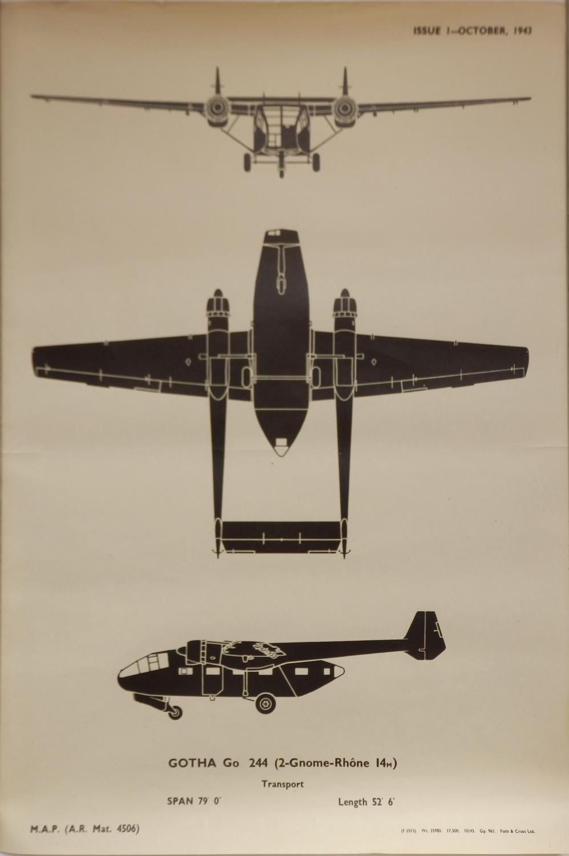 RAF recognition poster - Gotha Go244