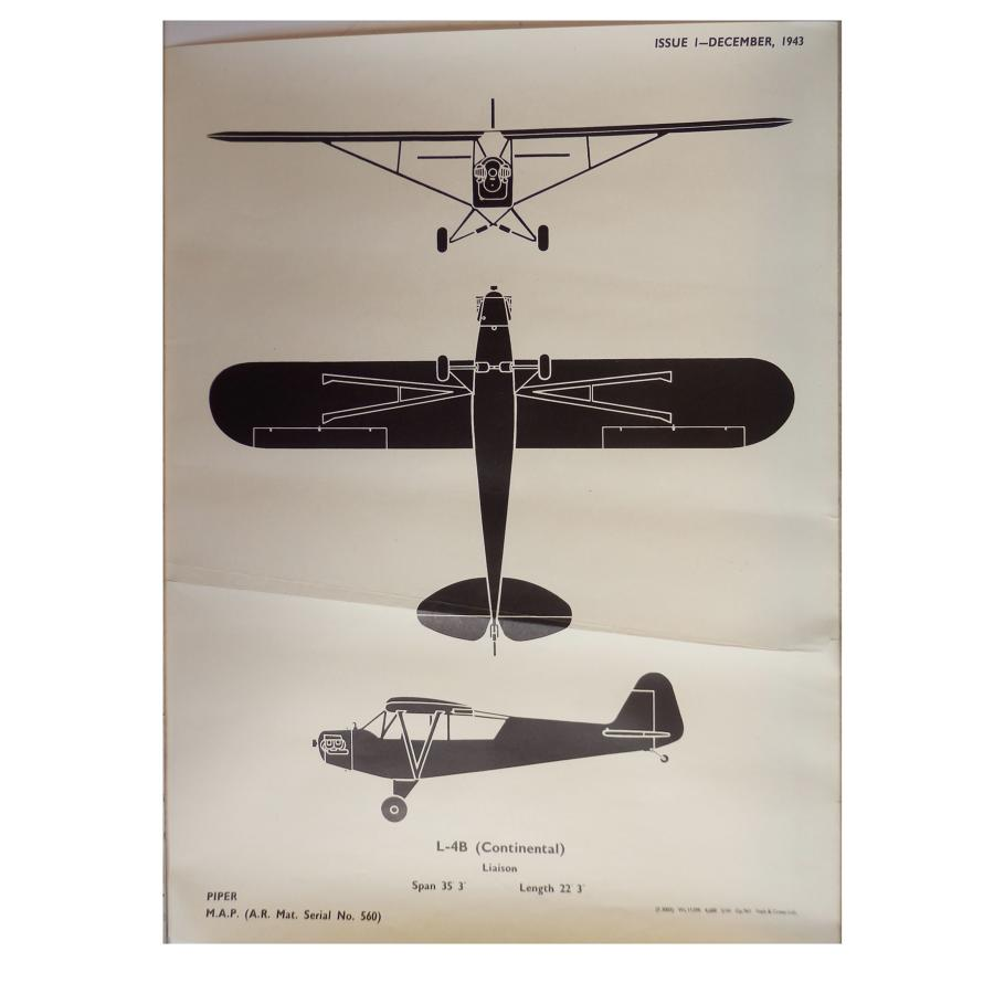 RAF recognition poster : L-4B (Continental)