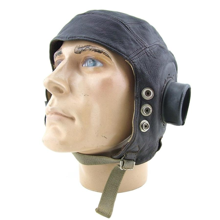 RAF C-type flying helmet, 1st internally wired pattern